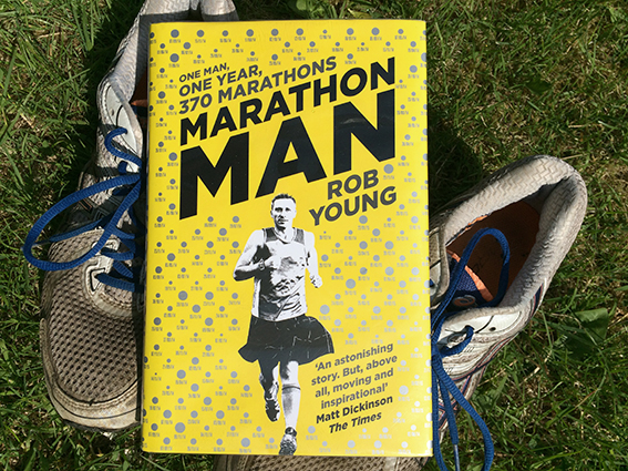 Rob Young Marathon Man book published by Simon & Schuster