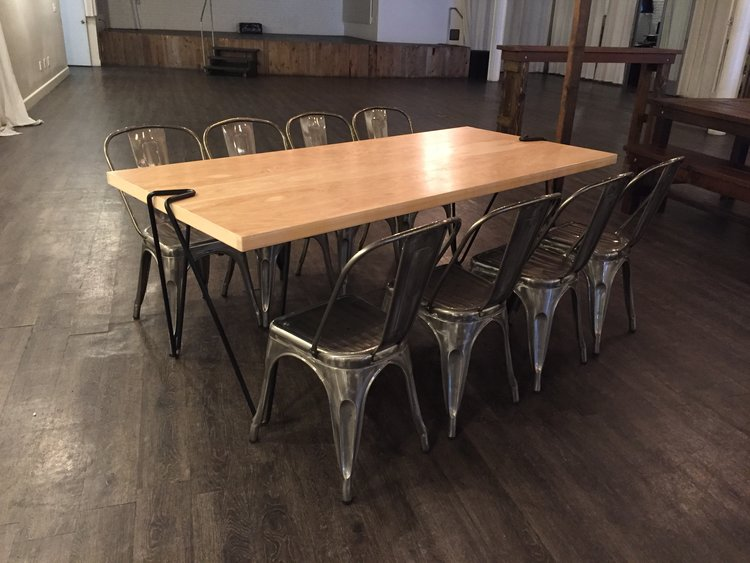 Farm table rentals bench rentals market lighting more san modern hairpin leg tables watchthetrailerfo