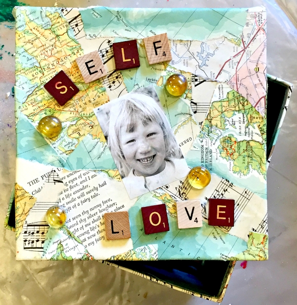 "Inspiration boxes are beautiful and personal, each participant's has its own character. Susie will guide you through the entire activity. You don't have to be ""artistic"" to enjoy this creative endeavor!"