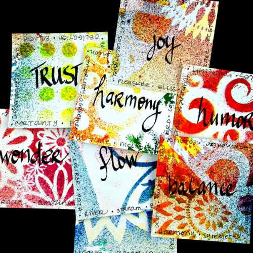 Inspiration cards are easy and fun to make and beautiful to keep or gift.