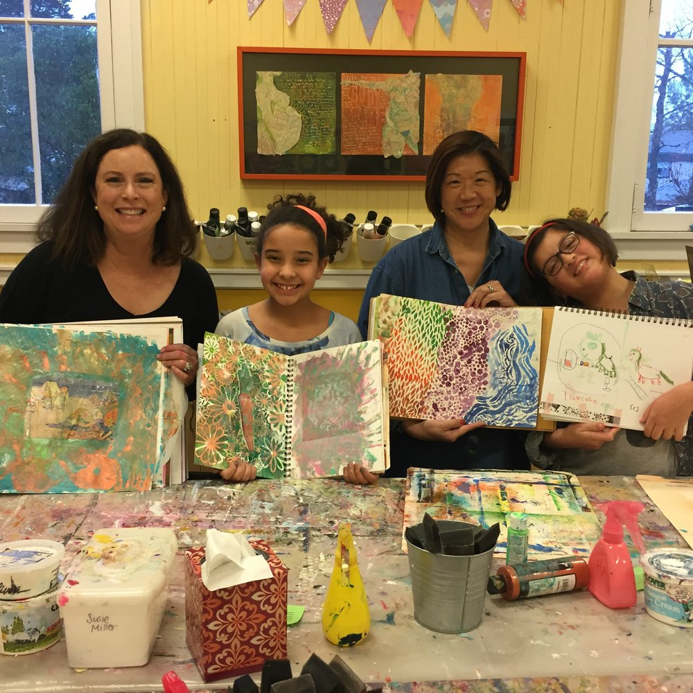 CONNECT   Unfold Studio is a great place to relax and be present with yourself and your child. Susie and Alice are there to support you in connecting and making art, side-by-side with your child.