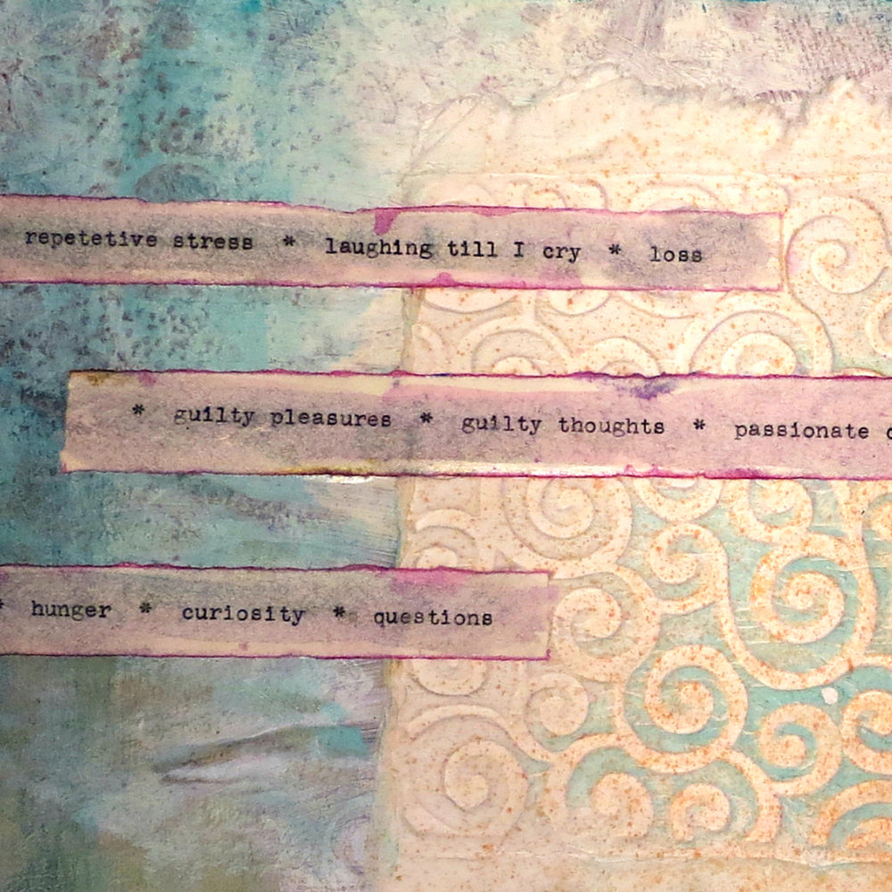 Type your journaling out on strips of paper and then glue it down on the page.
