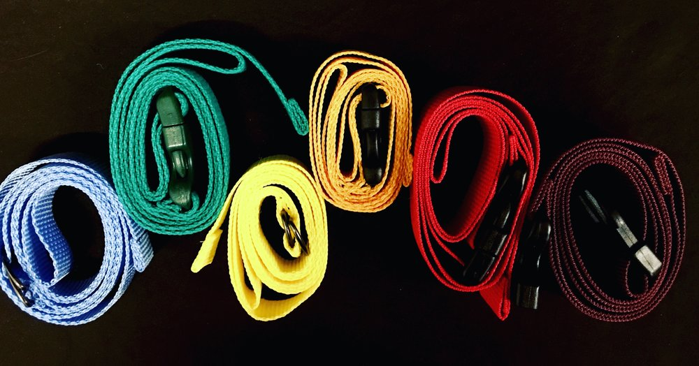 A set of handmade belts used for styling a photoshoot.