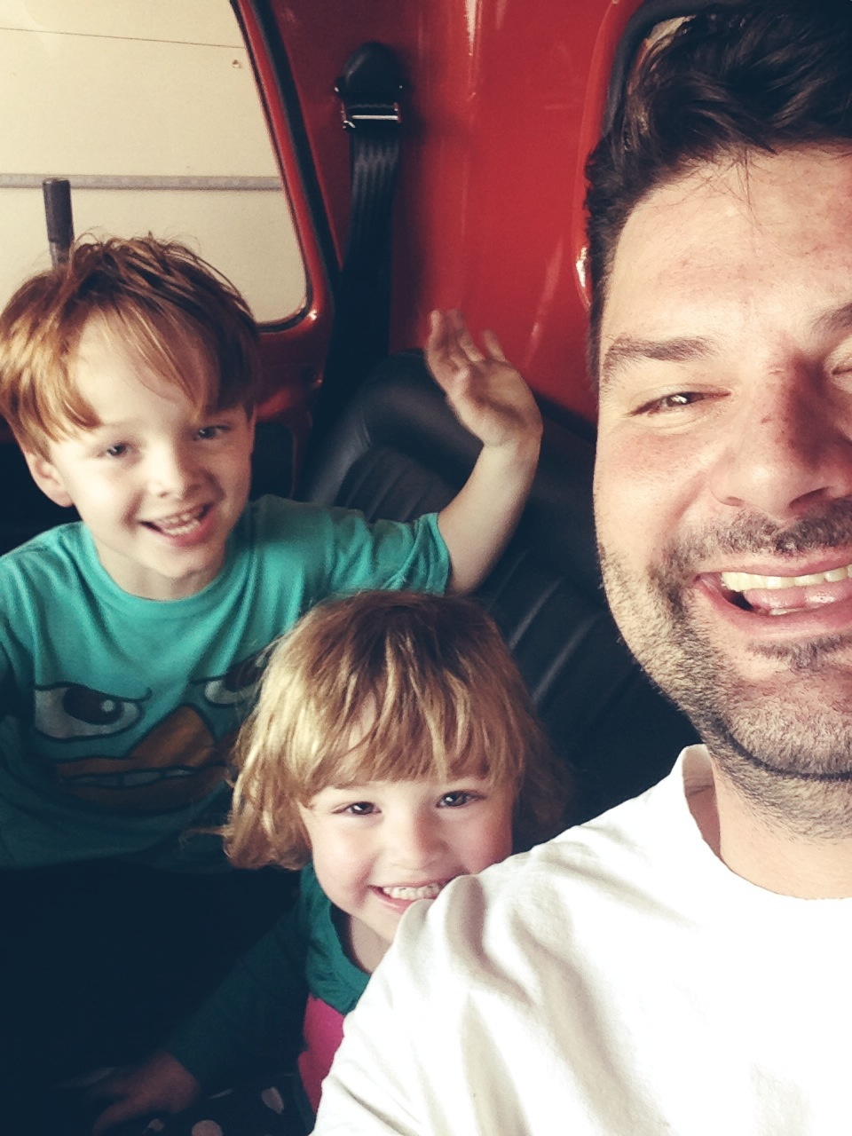 When I travel, Rich sends me photos like these of him and the kids. They are my favorite part of business travel.