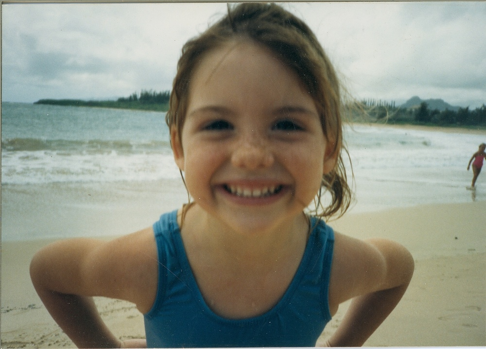 Fern at Kealia Beach as a child.
