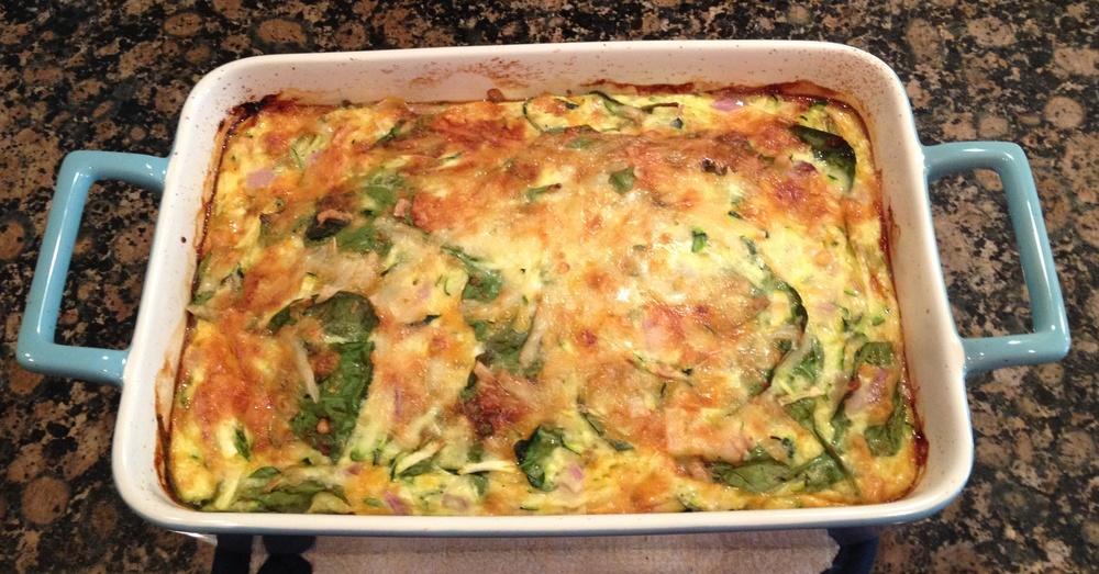 Spinach Quiche with Ham