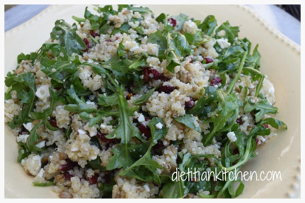 Quinoa, Feta & Arugula Salad