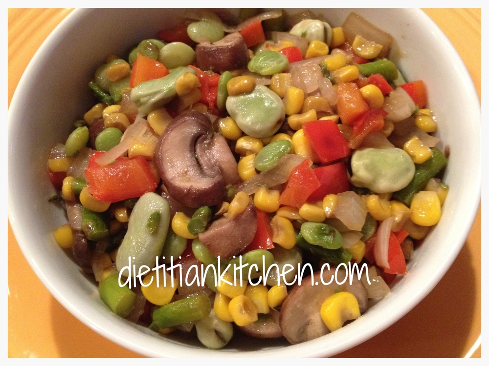Fava Bean and Corn Stir Fry