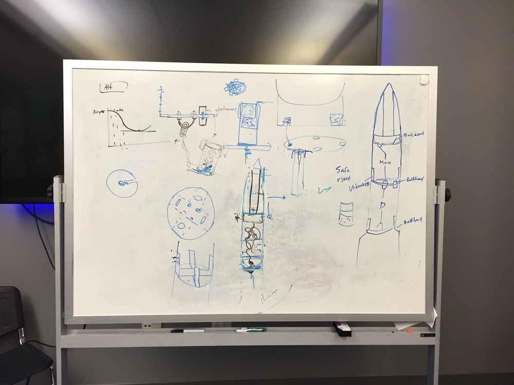 Whiteboard sketches of the entire recovery bass section.