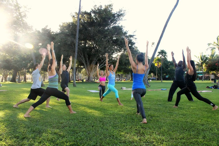 Morning Outdoor Yoga Or Fitness Class Kamaaina Rate