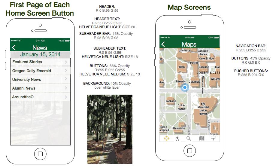 University Mobile App — Diana Lee Designs