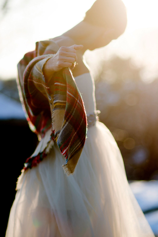 Beautiful fall New England wedding on a beach