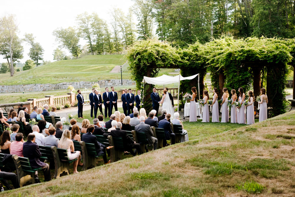 Outdoor ceremony at Turner Hill Mansion