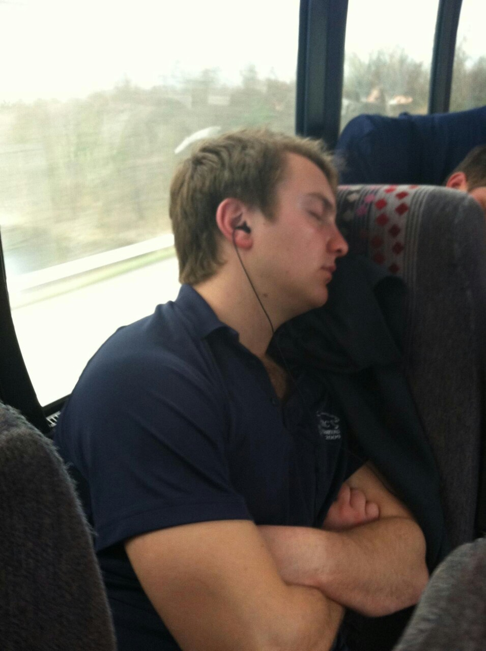 Former captain Bri-guy the Tri-guy traveling with @themcrc on their way to Nationals!