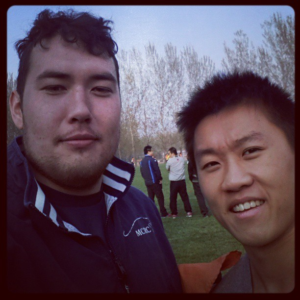 lebogo :     Look who I found!!! #Beijing #Rugby #mcrc #middlebury #midd