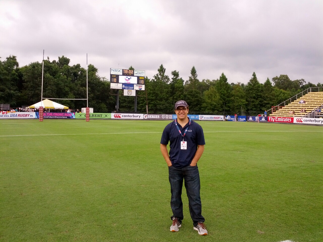 Chris Mutty '09.5 at the USA Rugby high performance referee development camp and Eagles vs Canada test match