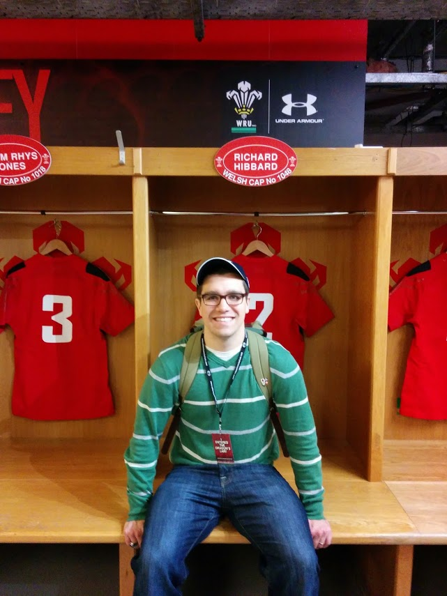 Chris Mutty 2009.5 sitting in front of Wales hooker Richard Hibbard's locker agh the Millennium Stadium in Wales.    Chris recently returned from a referee exchange program in Gloucesterhire, England. Chris is currently referee for NERFU and the NRU.    Chris played hooker for the MCRC, but latest games saw him debut at 9 (decent box kick for a front-rower!).   Follow his blog:  Have Kit, Will Travel .