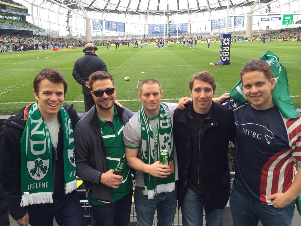 Michael Pappa 2011 enjoying a 6 Nations match in Ireland with his Connecticut Yankees teammates!