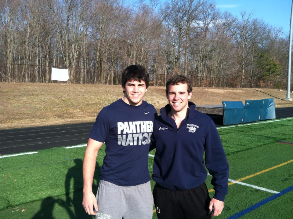 Jake Feury 2015 caught up to watch Allan Stafford 2013 first game playing for D1 men's club Maryland Exiles. Go BLUE!