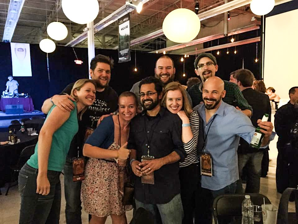 Closing night with Jamie Cobb, Zak Forsman, T.J. Houle, Kevin K. Shah, Marion Kerr, and Brian Crewe, and Team DLG.