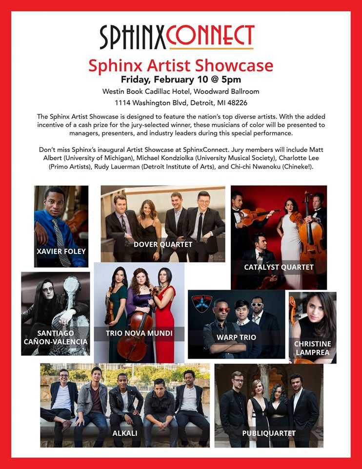 Detroit, Michigan  Sphinx Artist Showcase Competition