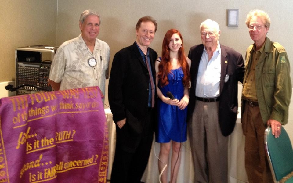 Team Huxley delivers speech & presentation at Studio City Rotary Club