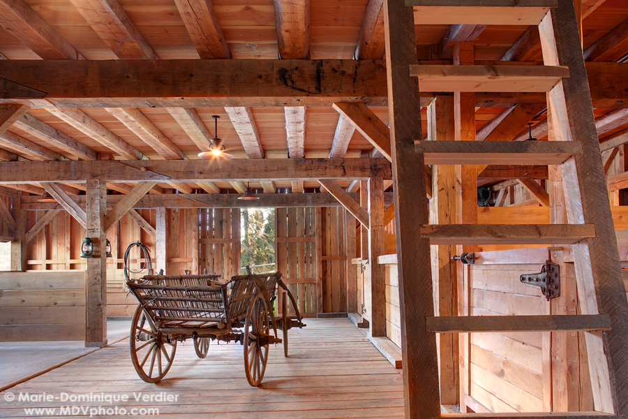A Hand Hewn Timber Frame Oak Barn I Constructed With My Crew In 2007.