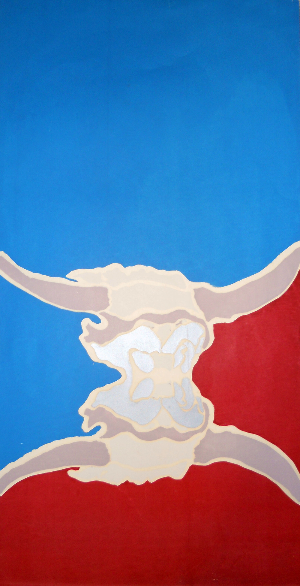 Bull's head, serigraph 1976