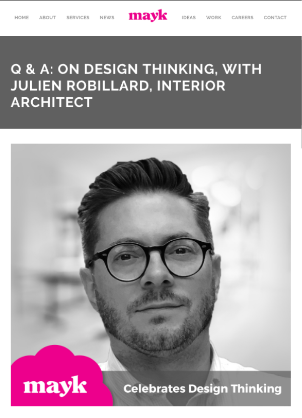 """Since my design is more architectural in perspective, I think about how to best shape a room holistically, the squares, corners and edges."""