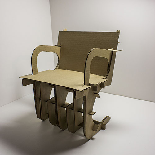Mies BRNO Cardboard Chair Interpretation