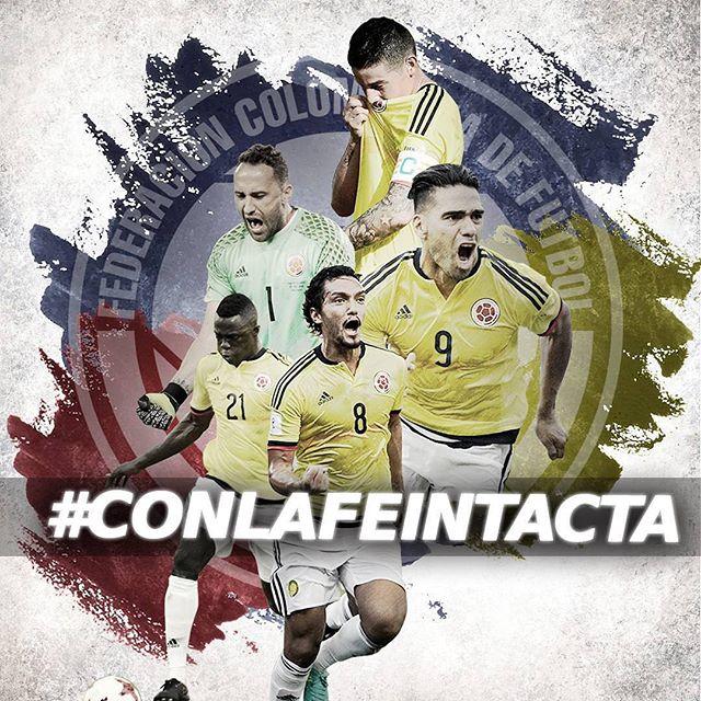Vamos mi Selección 💪🏽🇨🇴 . . . . Repost from @fcfseleccioncol #CONLAFEINTACTA