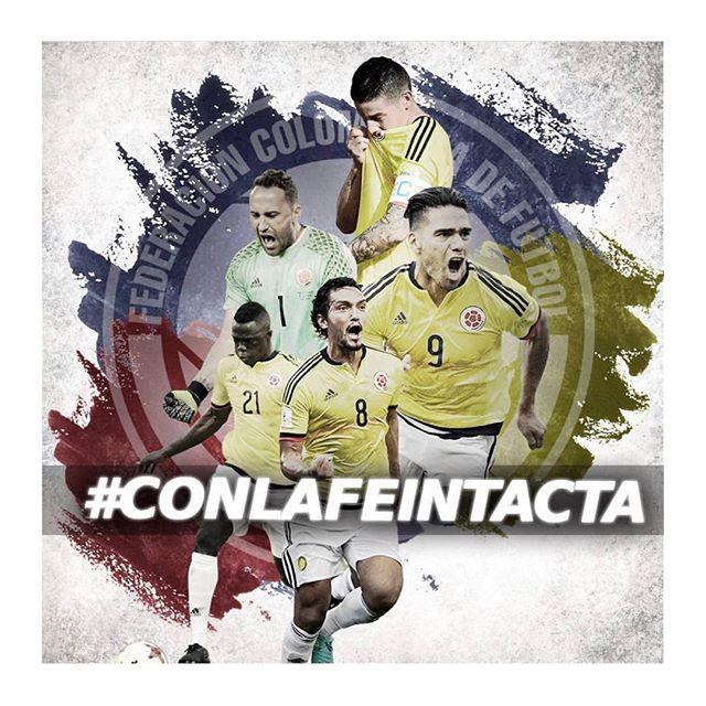 De la mano de Dios 🙏🏽 Vamos mi Selección!!!!! 💪🏽 . . . . Repost from @fcfseleccioncol using @RepostRegramApp - #CONLAFEINTACTA