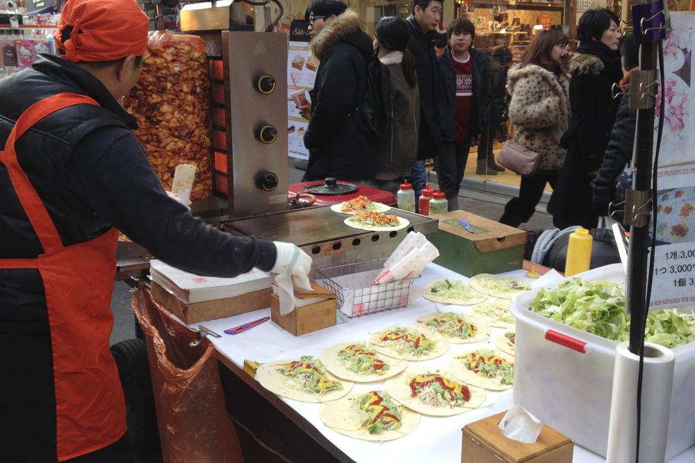 20. Korean-style Tacos - 타코 (taco)