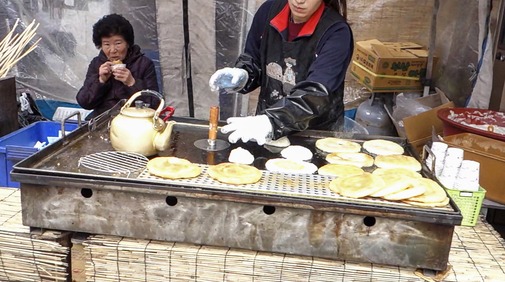 25. Sweet Korean Pancake - 호떡 (hotteok)