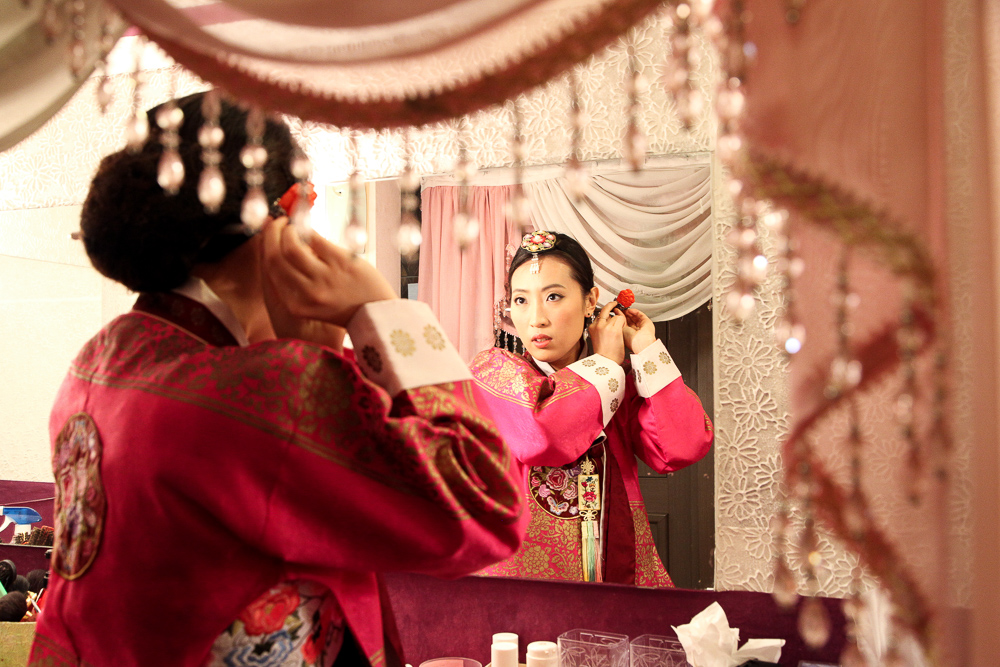 royal hanbok preparation