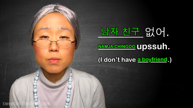 "Granny Kim informally says, ""I don't have a boyfriend."" That's because she has a husband!"