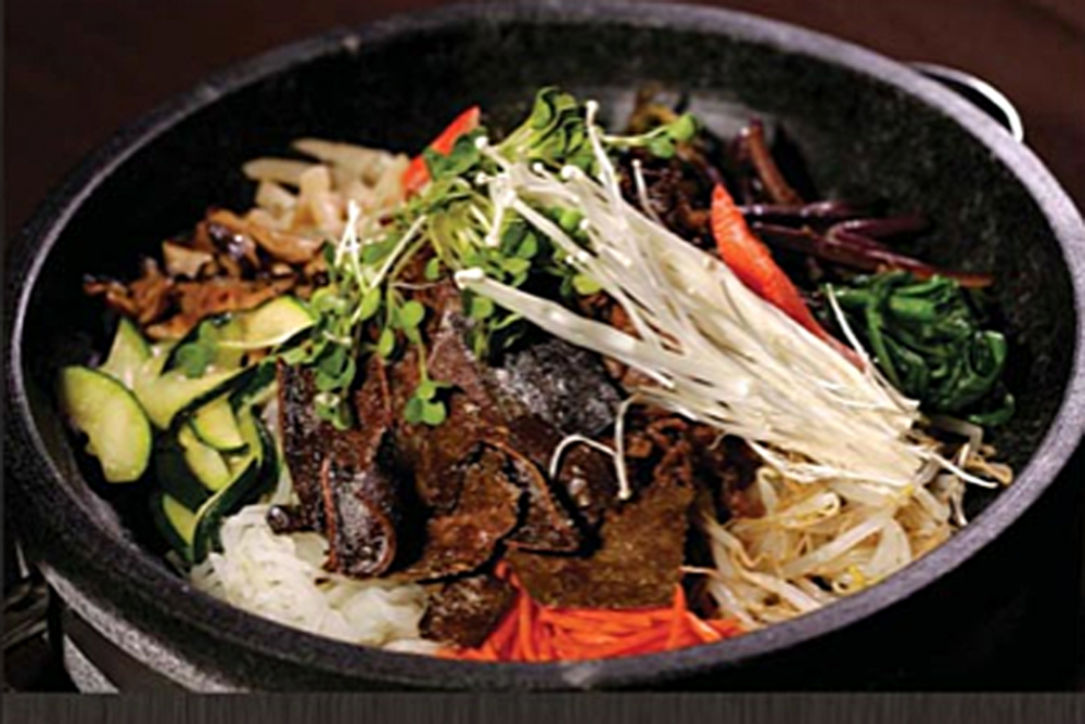 Vegans & carnivores unite at Genwa .  This Korean BBQ joint's got a rainbow of sidedishes and vegetarian options!