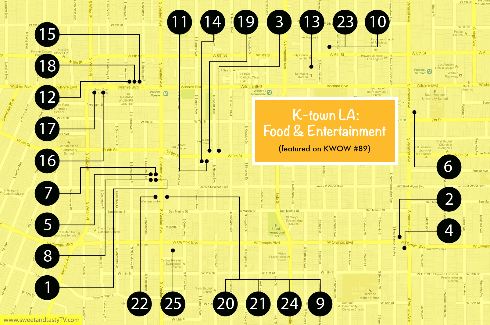 Ktown LA Food  Entertainment Part   SweetandtastyTV - Los angeles k town map