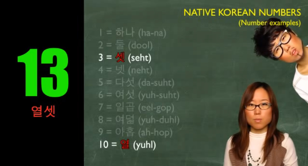 native korean number 15