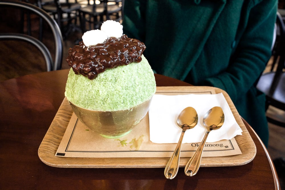 Green Tea Bingsoo at Okrumong — SweetandtastyTV