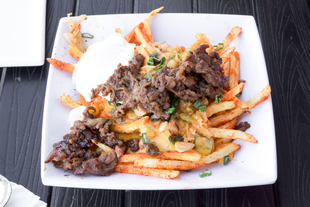 From far away, the beef bulgogi may be shaped like a fried fish. But nope, it's the Oppa Gangnam Fries!
