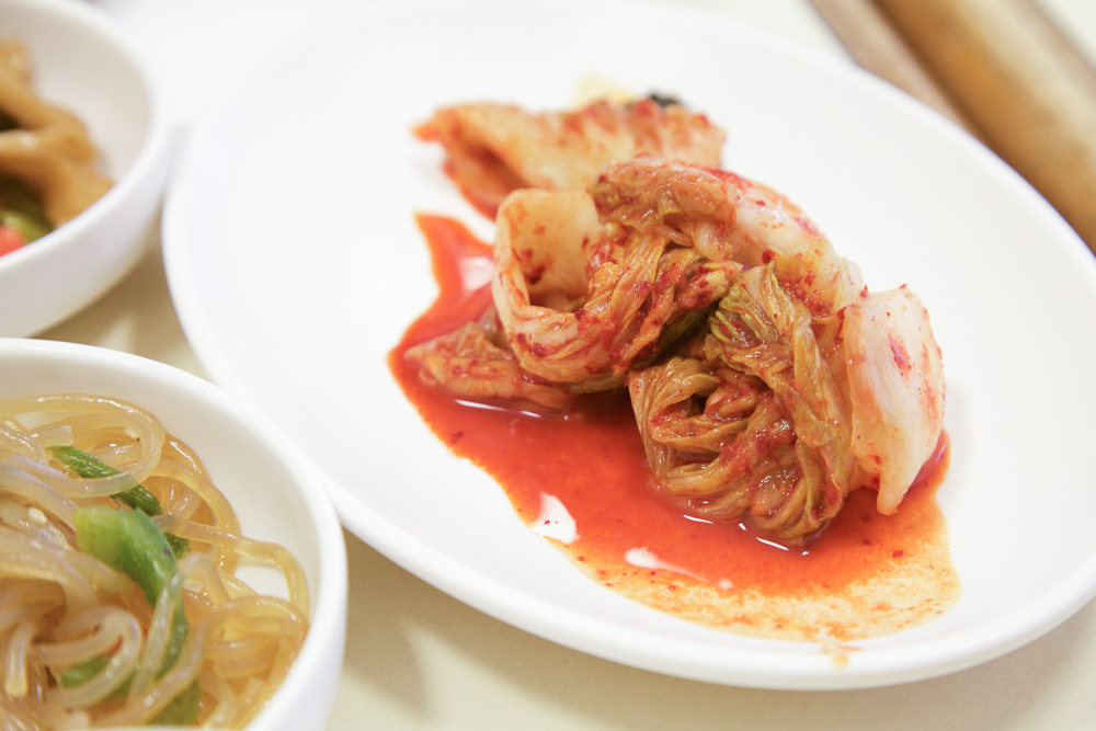 Up close and personal with Napa Cabbage Kimchi.