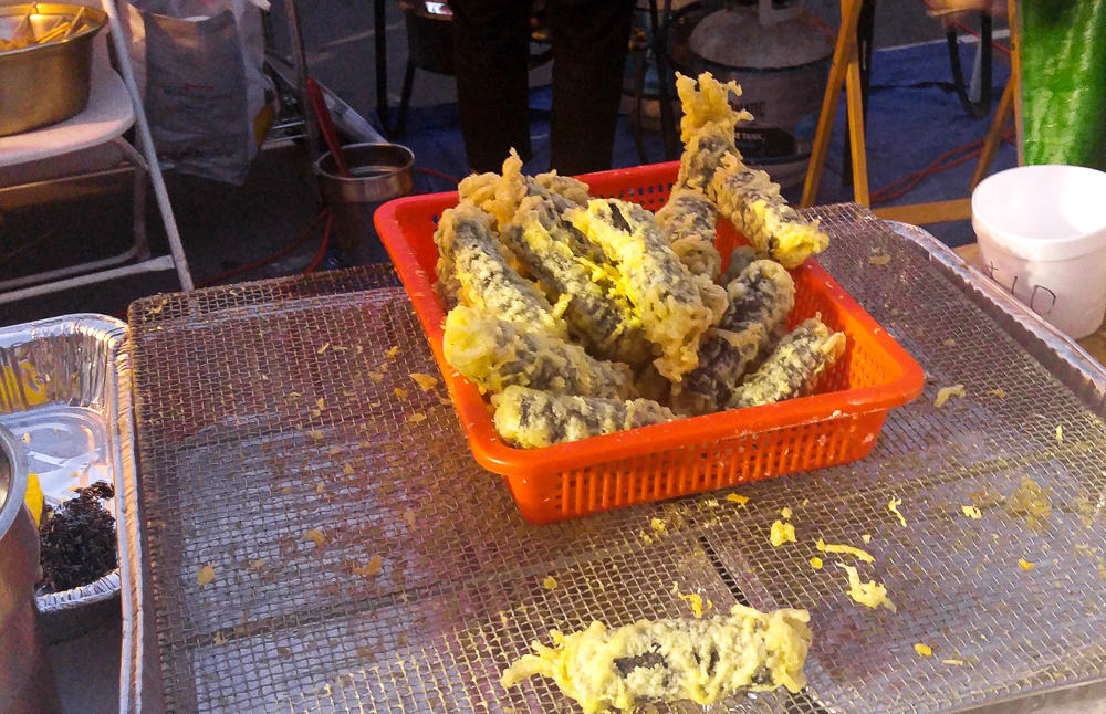 Deep-fried sea cucumbers