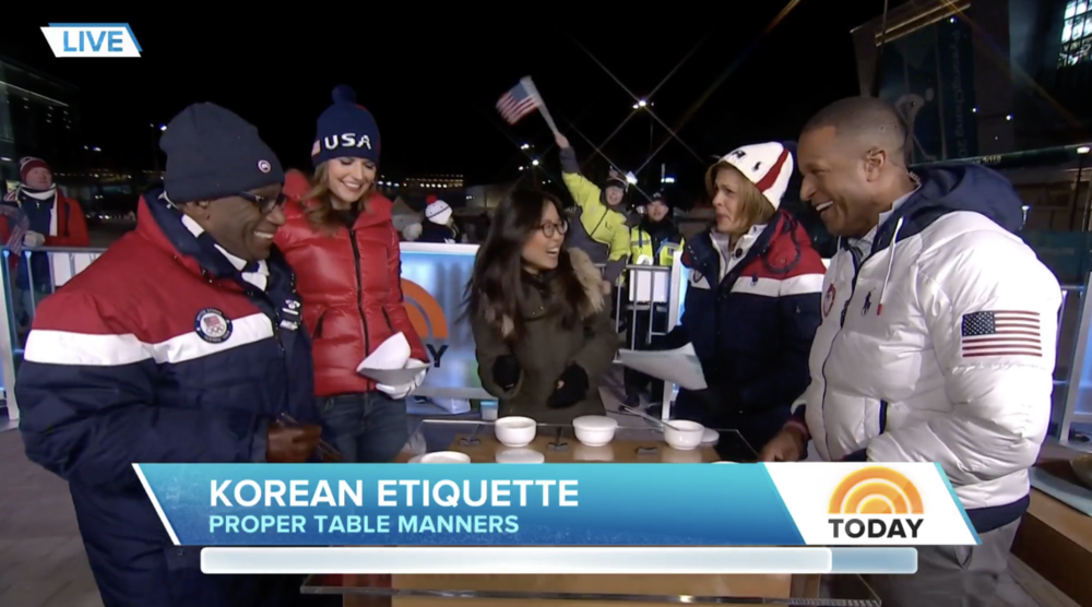 Guest on  Today Show  during PyeongChang Winter Olympics