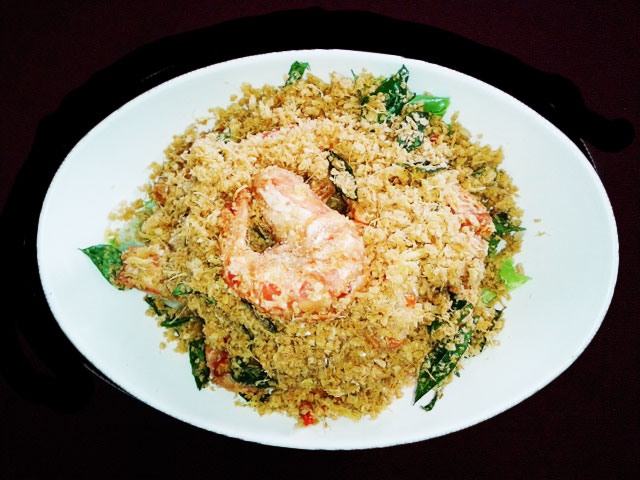 Fried Prawns with Cereal