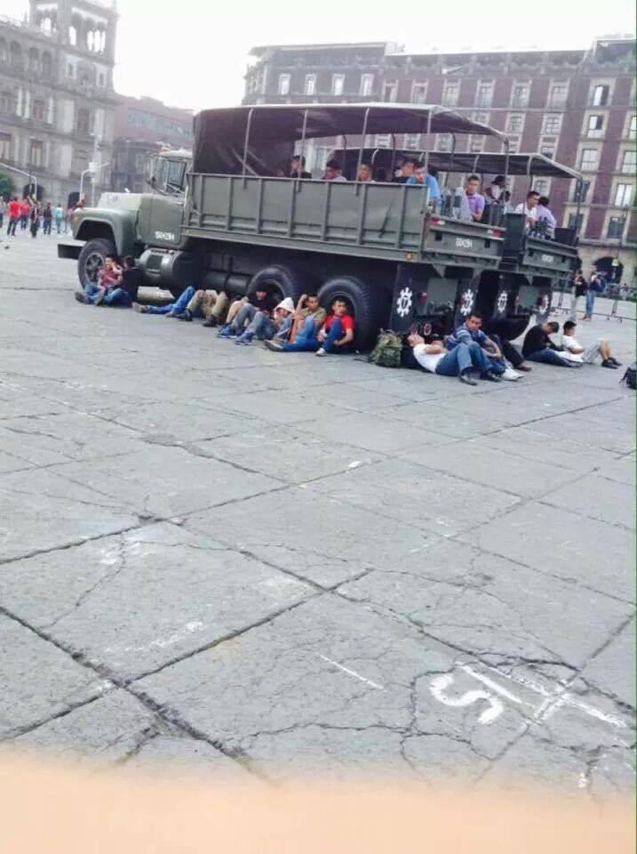 Plain Clothed Military Awaiting Todays Protests in Mexico City!