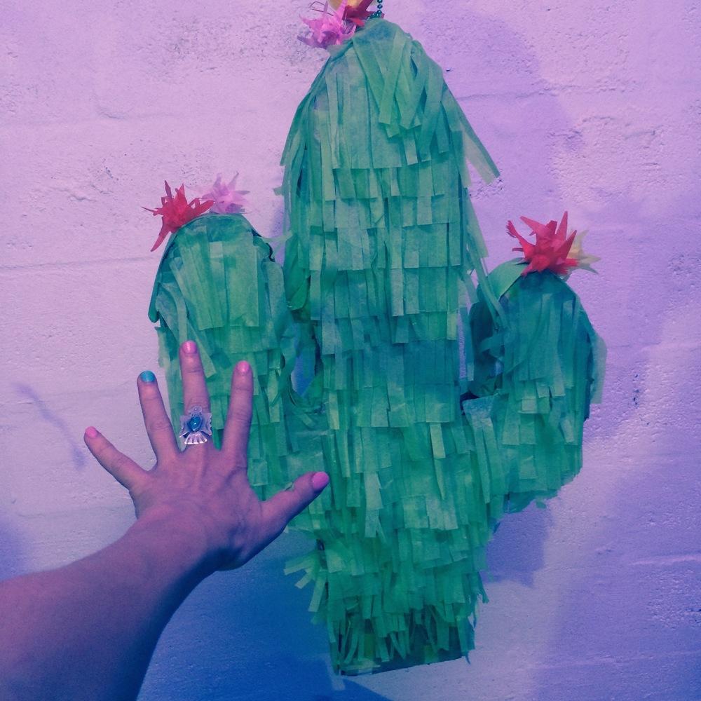 Abbie's GIANT Cactus Piñata!