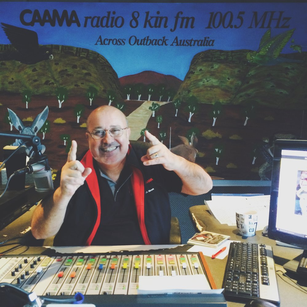 G-Man at CAAMA Radio, Alice Springs.
