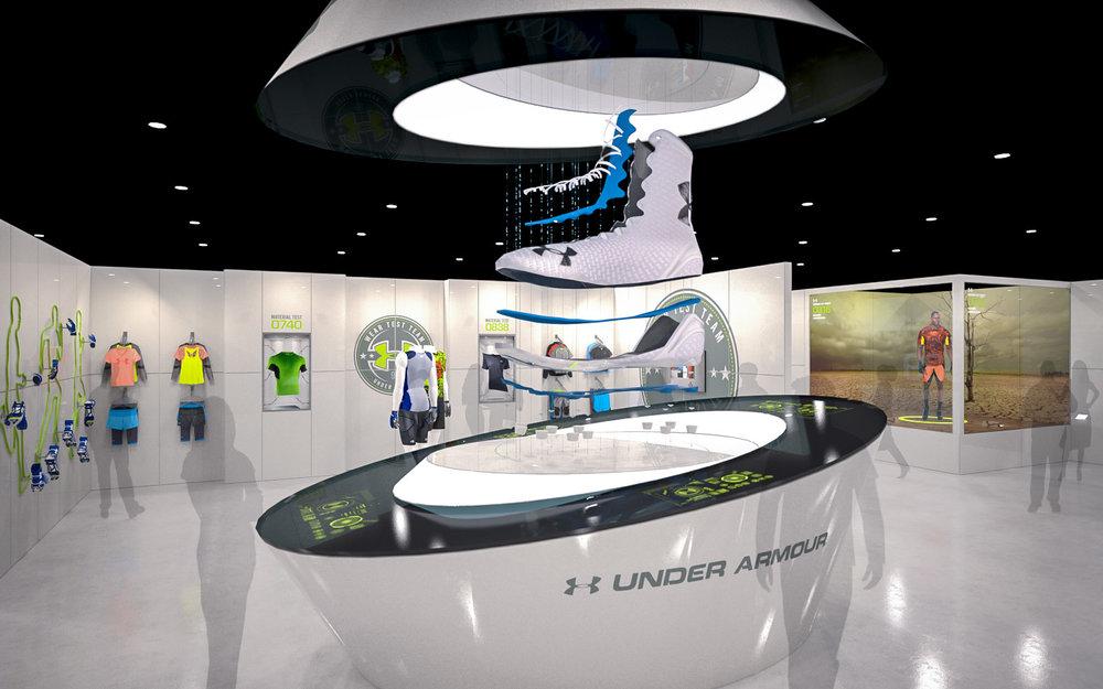 experiential design / UNDER ARMOUR NFLX
