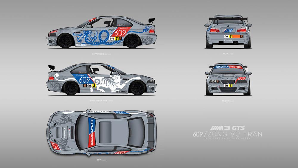 vehicle wrap  /  BMW M3 RACE livery